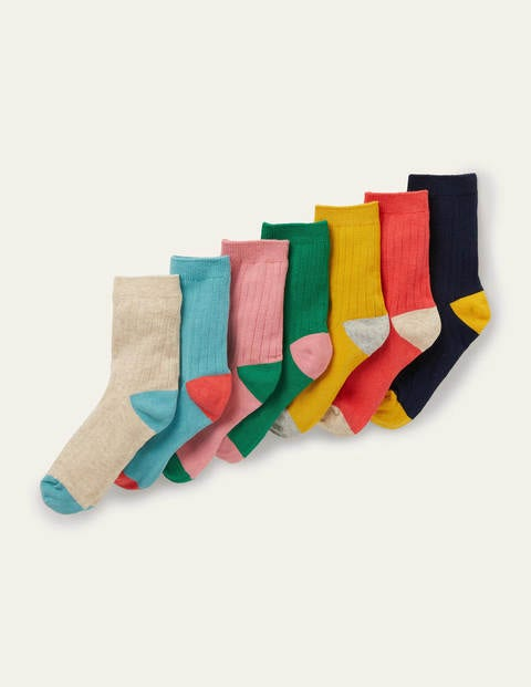 Ribbed Socks 7 Pack