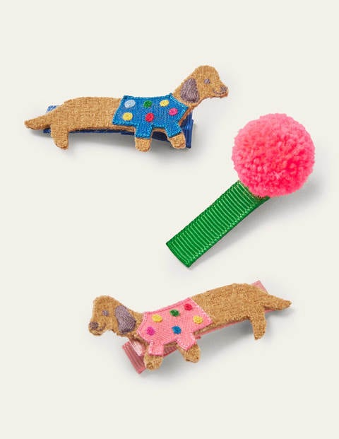 Hairclips 3 Pack - Multi Dogs