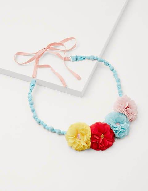 Fabric Necklace - Multi Flutter Flowers