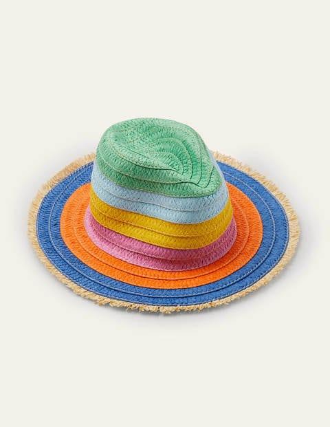 Straw Hat - Multi Rainbow