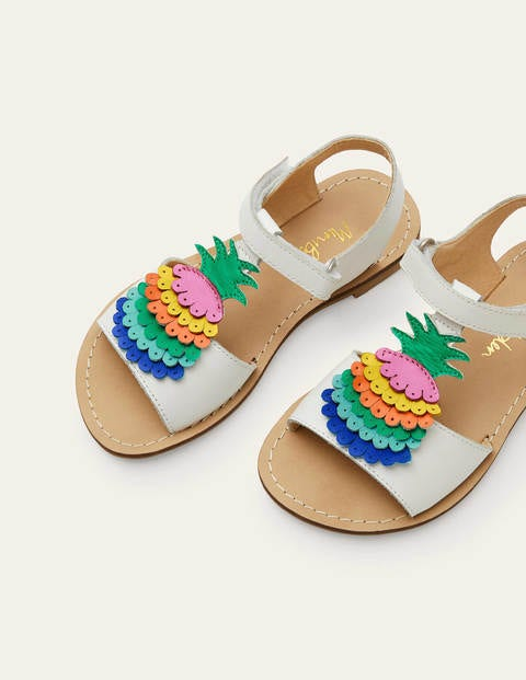 Novelty Leather Sandals - Multi Pineapple