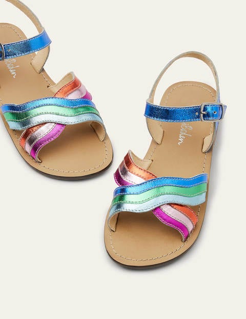 Leather Rainbow Sandals