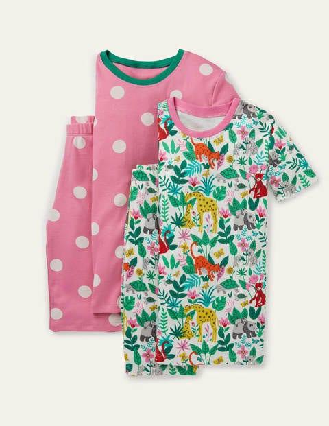 Twin Pack Snug Short Pyjamas - Multi Little Jungle