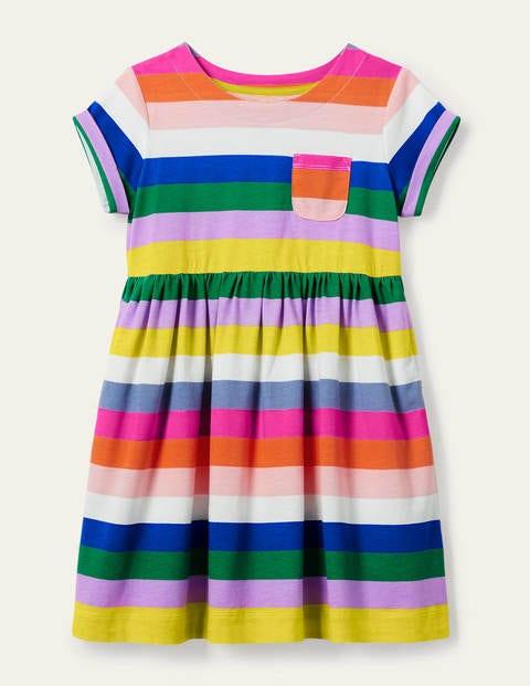 Fun Jersey Dress - Brilliant Blue Multi Stripe