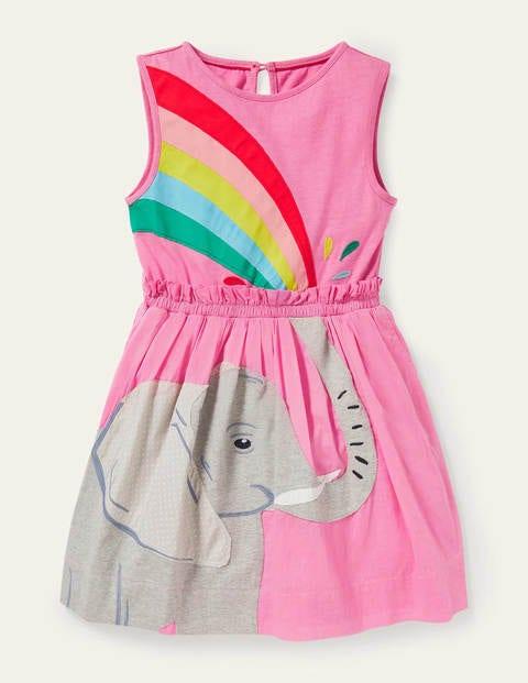Kleid mit Safari-Applikation