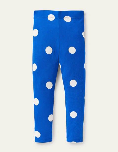 Fun Leggings - Brilliant Blue Polka Dot