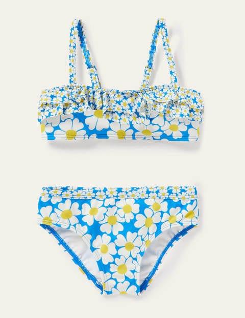 Floral Bikini Set - Moroccan Blue Daisybed