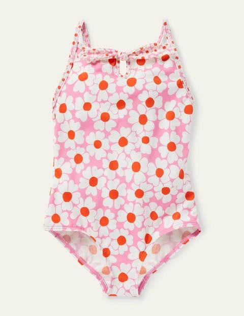 Blumenbadeanzug mit Schleife PNK Mädchen Boden, PNK