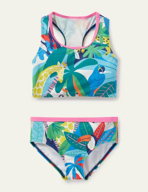 Racerback Bikini Set - Multi Endangered Jungle