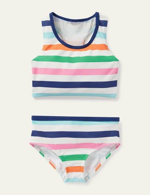 Racerback Bikini Set - Multi Stripe