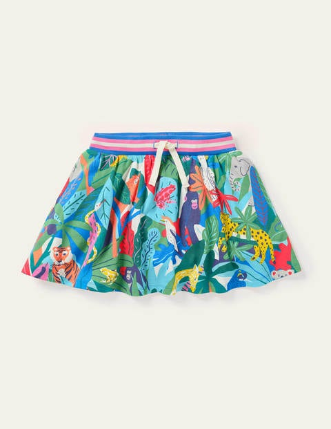 Jersey Skort - Multi Endangered Jungle