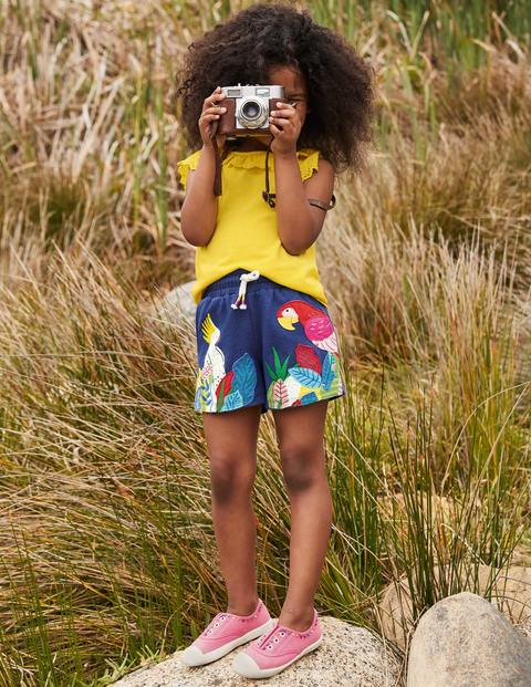 Appliqué Jersey Shorts - Starboard Blue Birds