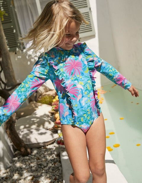 Long-Sleeved Frill Swimsuit
