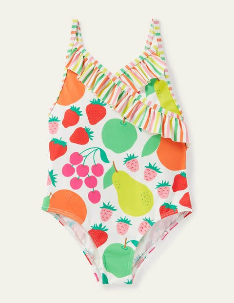 Wrap Front Swimsuit - Multi Tutti Fruitti