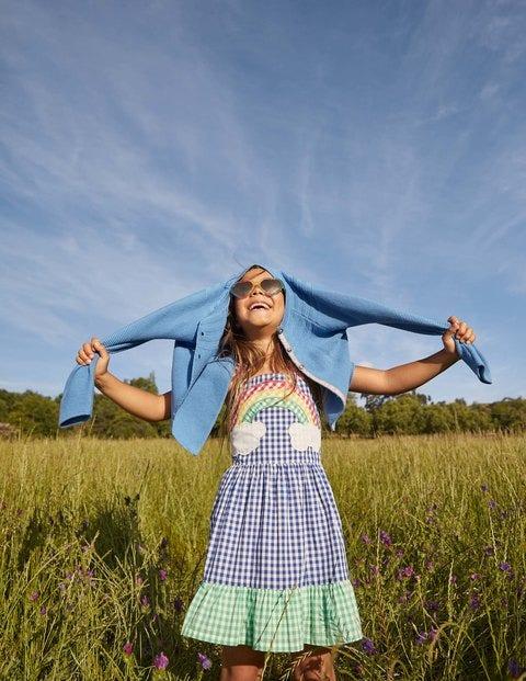 Gingham Woven Sun Dress - Multi Rainbow Scene