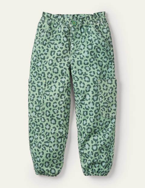 Utility Pull-On Trousers - Rosemary Green Leopard