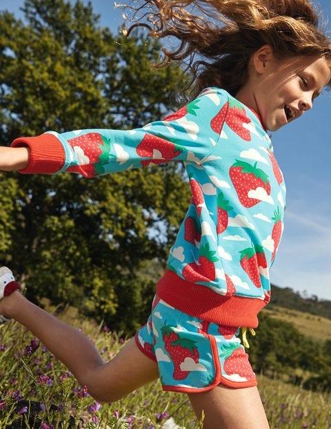 Shorts mit Retromuster - Wasserblau, Erdbeerhimmel
