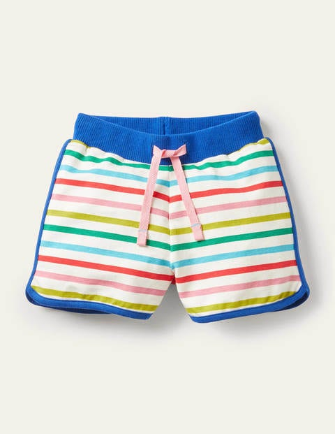 Shorts mit Retromuster - Bunt/Regenbogen, Gestreift
