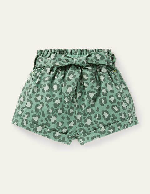 Utility shorts - Rosemary Green Leopard