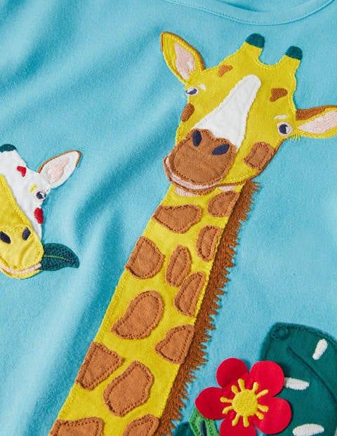 Baby giraffe applique t shirt