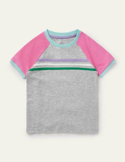 Raglan Slub T-shirt - Grey Marl