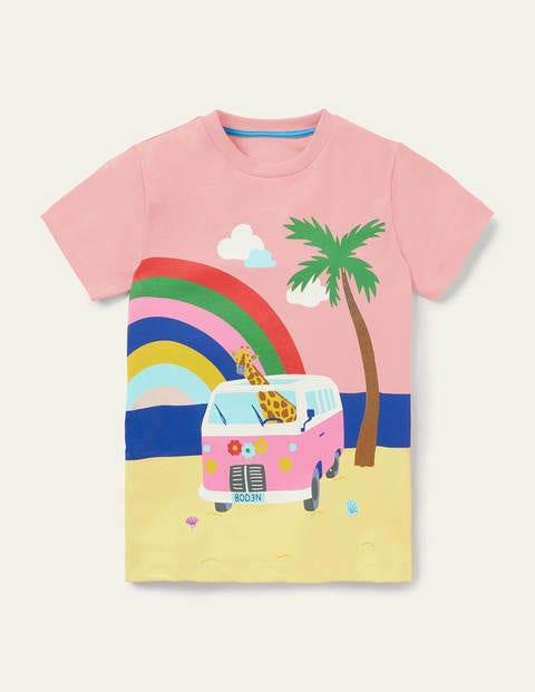 Scene T-shirt - Provence Dusty Pink Camper Van