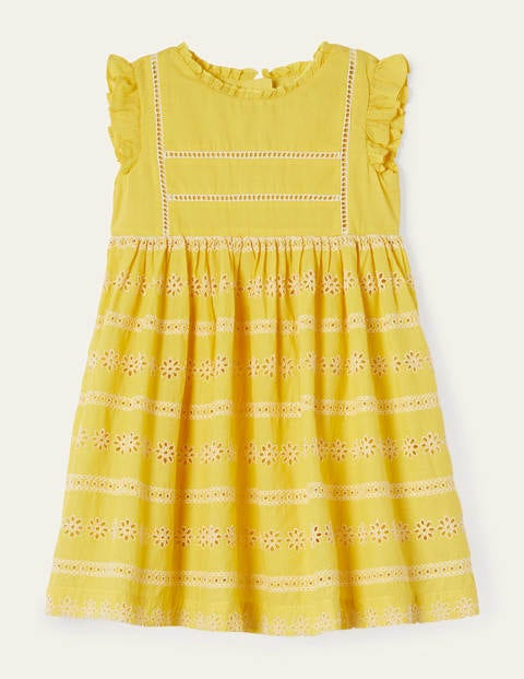 Broderie Dress - Sweetcorn Yellow