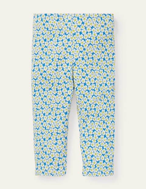Fun Cropped Leggings - Moroccan Blue Daisybed