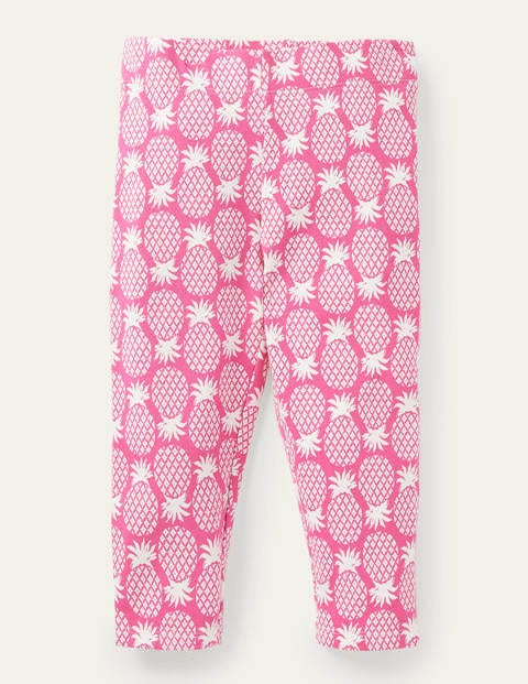 Fun Cropped Leggings - Party Pink Pineapple Geo