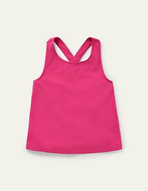 Cross-back Tank - Tickled Pink