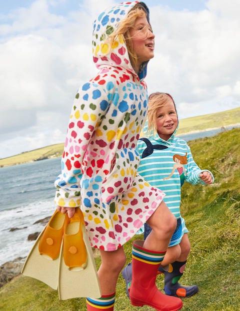 Pattern Towelling Beach Dress - Multi Rainbow Leopard