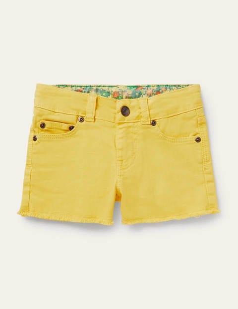 Denim Shorts - Sweetcorn Yellow