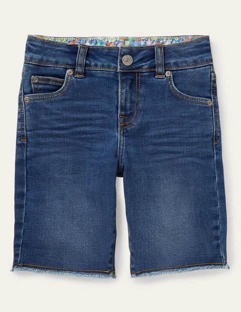 Long Denim Shorts - Mid Vintage