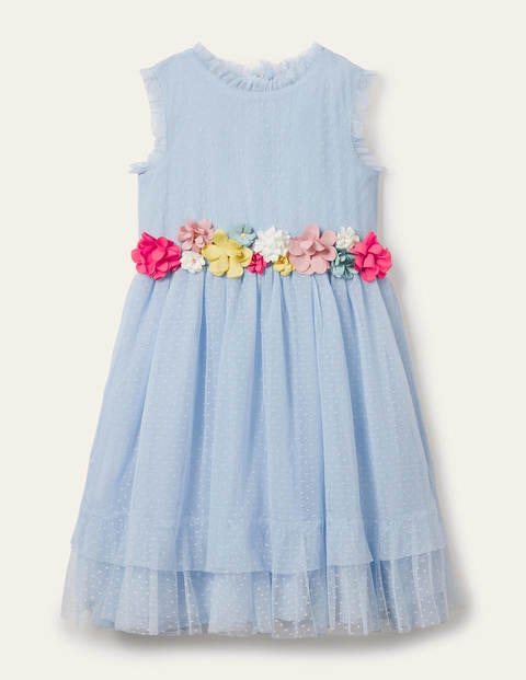 Floral Corsage Tulle Dress