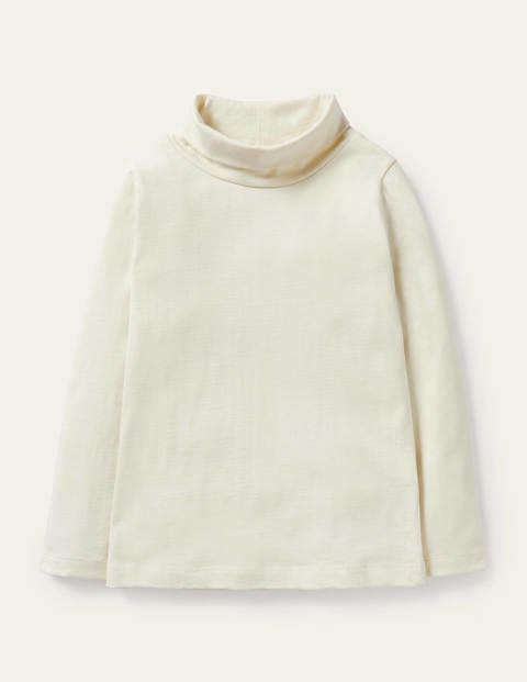 Roll Neck Supersoft T-shirt - Ivory