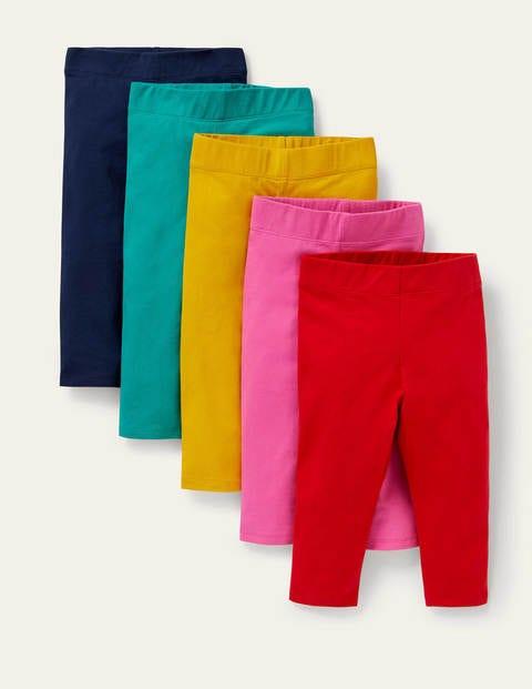 5-Pack Cropped Leggings - Multi Rainbow