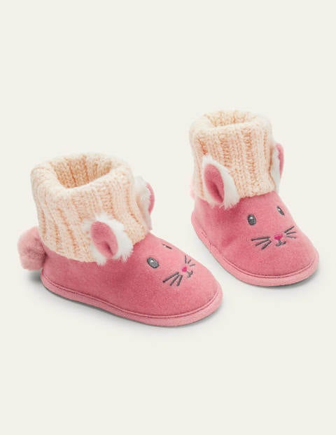 Bunny Knitted Slipper Booties