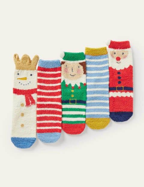 Christmas Fluffy Socks 5 Pack