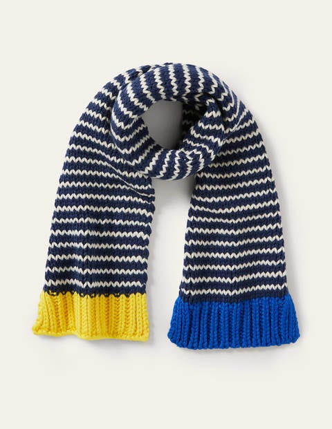 Knitted Striped Scarf