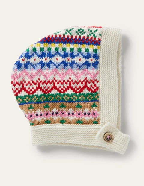 Fair Isle Knitted Bonnet - Multi