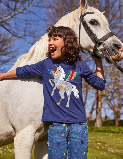Superstitch T-shirt - Starboard Blue Unicorn