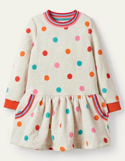 Cosy Printed Sweatshirt Dress