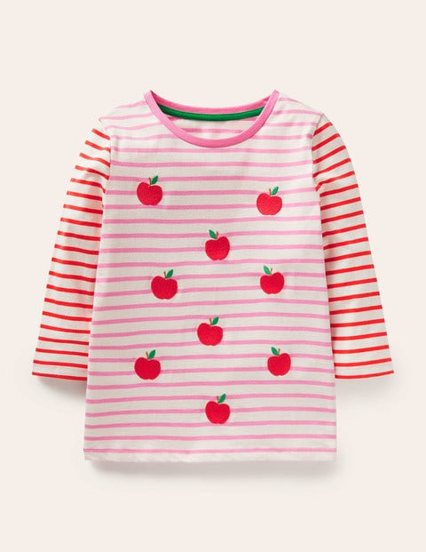 Embroidered Stripy T-shirt