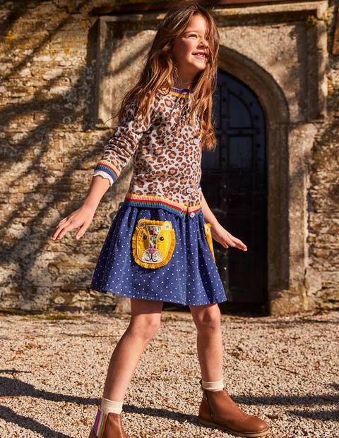 Cord Appliqué Skirt