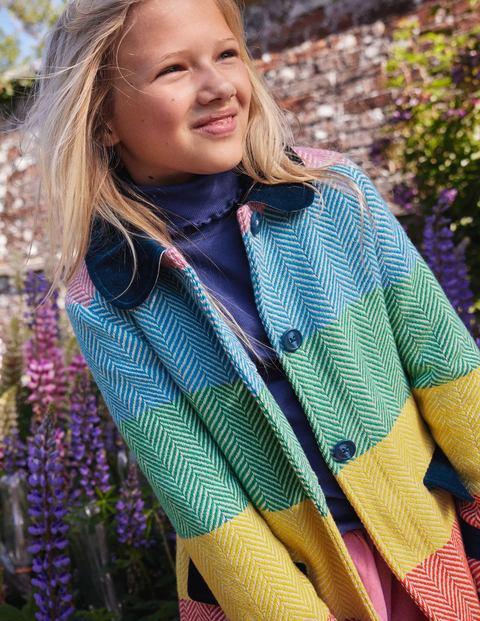 Colourful Wool Coat