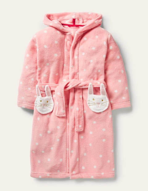 Fun Cosy Dressing Gown - Boto Pink Spot Bunny