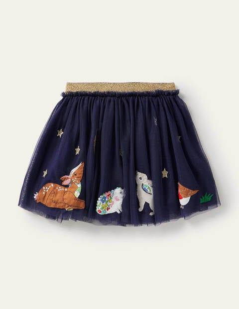 Appliqué Tulle Skirt
