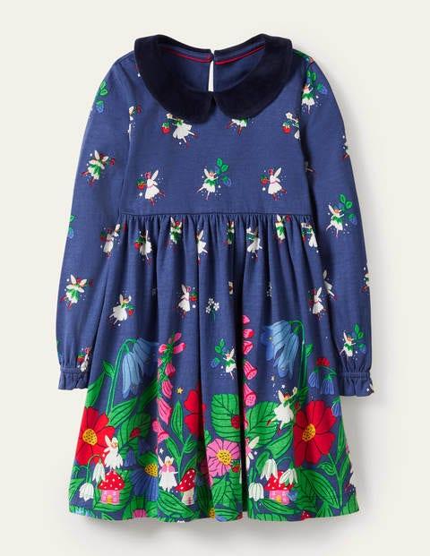 Velvet Collar Party Dress