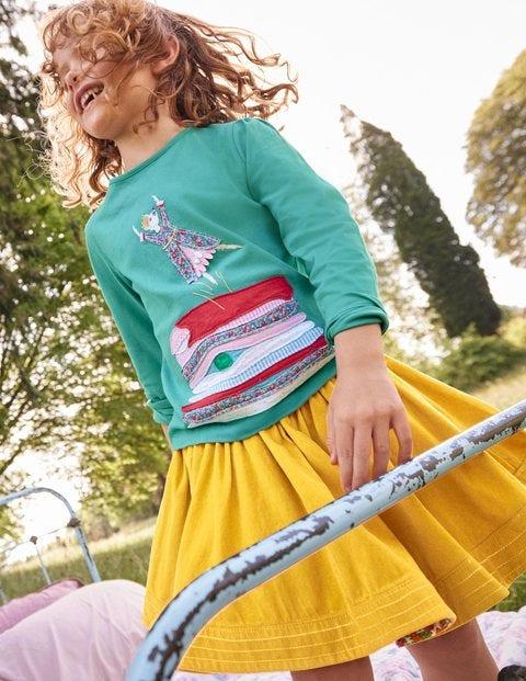 T-shirt à joli appliqué - Princesse bleu ruisseau