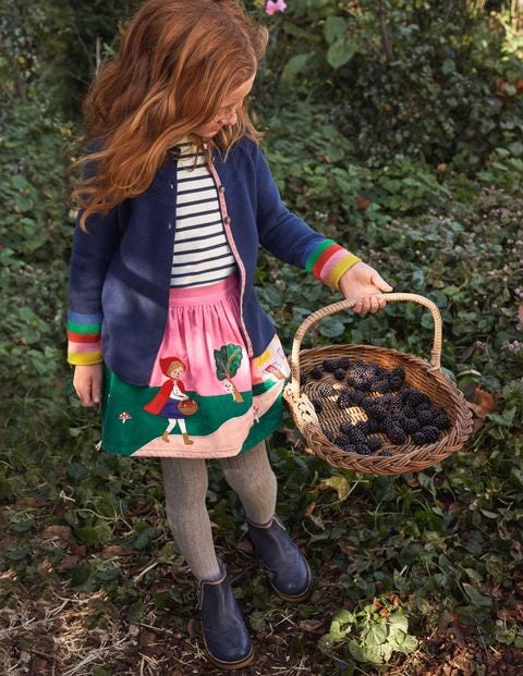 Appliqué Scene Cord Skirt